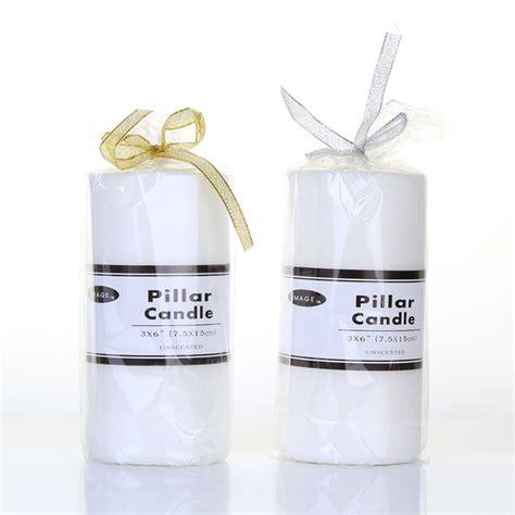 Billige Kerzen by 3x6 White Pillar Candles Cheap