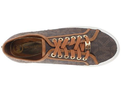 michael kors brown sneakers michael michael kors boerum sneaker in brown lyst