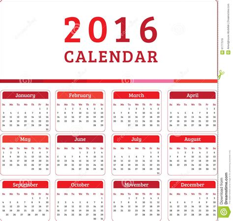 english calendar 2016 design stock vector image 61777684 english calendar 2016 design stock vector image 61777519