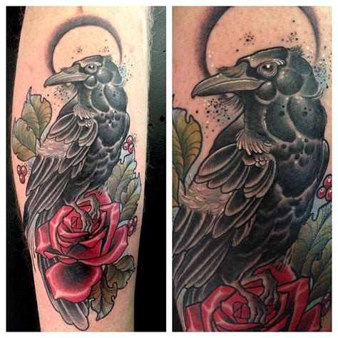 tattoo new school crow image gallery neo traditional crow tattoo