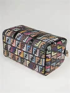 Fendi Spalmati Coated Selleria Suitcase by Fendi Multicolor Coated Canvas Zucca Spalmati Forever