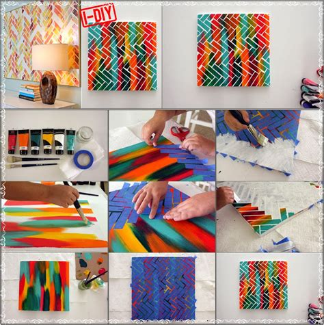 craft painting projects diy herringbone painting diy craft projects
