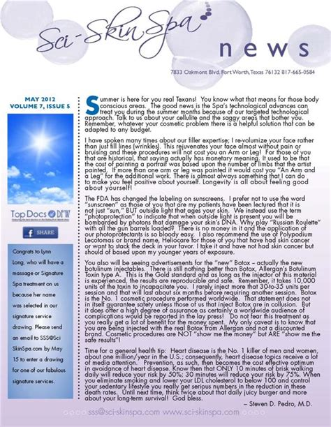 Newly Added To The Newsletter by Newsletters Sci Skinspa