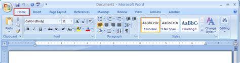 page layout ribbon word 2007 4