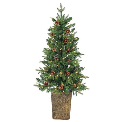 11ft pre lit artificial christmas sterling 4 ft pre lit cut pine artificial tree with clear lights in
