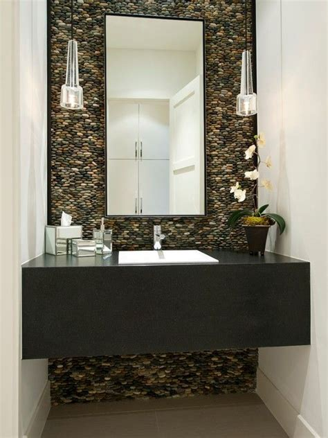 tile accent wall in bathroom natural bathroom with stone accent wall home decor