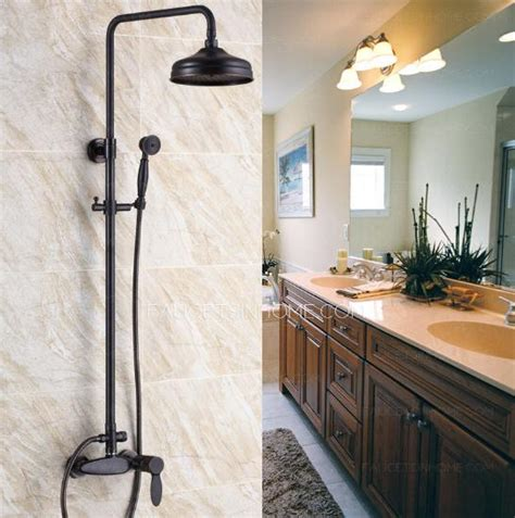 retro bathroom fixtures retro black rubbed bronze bathroom exposed shower faucets
