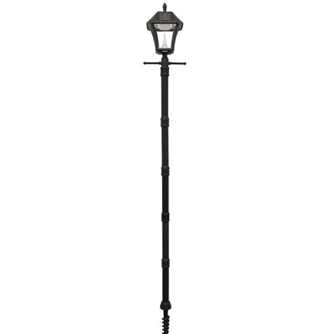 Solar Outdoor Light Post Gama Sonic Baytown Ii Black Resin Solar Warm White Outdoor Integrated Led Post Light And L