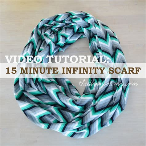 tutorial sew a 15 minute infinity scarf the diy