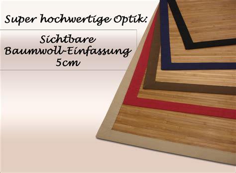 bambus teppich bambus teppich dekowe parkett 200x300 cm schwarz