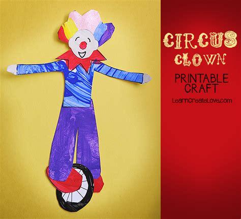 circus crafts for printable circus craft clown
