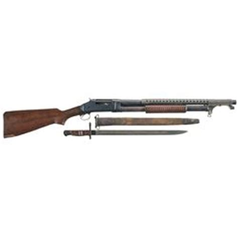"""winchester model 1897 slide action """"trench"""" shotgun with"""