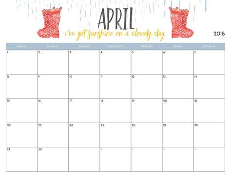 april 2018 calendar printable calendario calendars mesmerizing blank