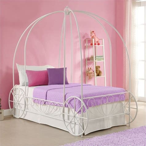 twin carriage bed metal twin carriage bed in white 3259098