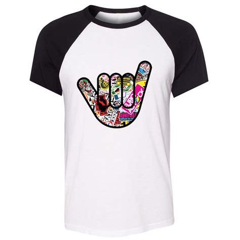 Tshirt Stiker Bomb idzn unisex summer t shirt jdm sticker bomb decal creative