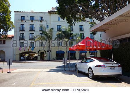 Santa Barbara Tesla Santa Barbara California Usa 22nd May 2015 The U