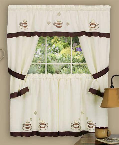 joe curtain cuppa joe curtain kitchen set multi achim country