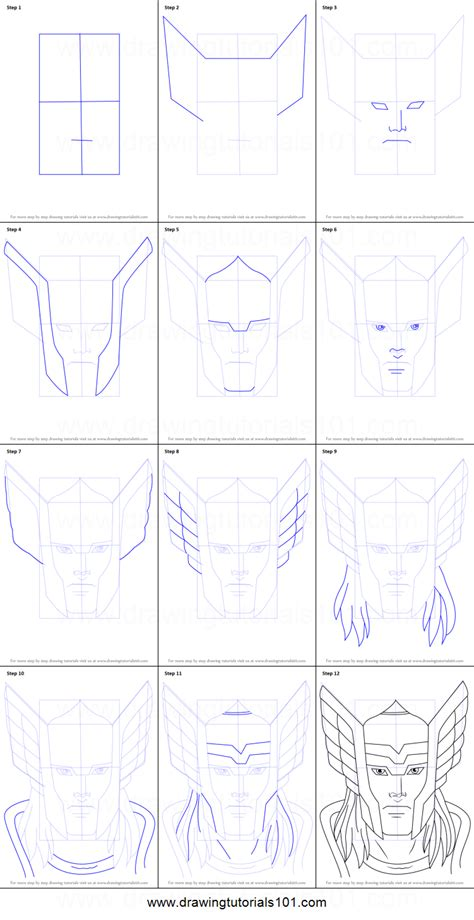 doodle drawing how to how to draw thor printable step by step drawing sheet