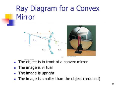 diagram for a convex mirror mirror and reflection ppt