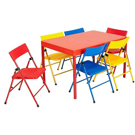 Childrens Folding Table And Chair Set Safety 1st Children S 7 Folding Table And Chairs Set Walmart