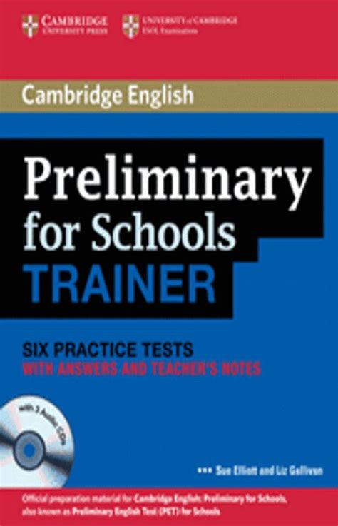 libro ket for schools trainer cambridge pet for schools trainer six tests with answers cd librera idiomatika