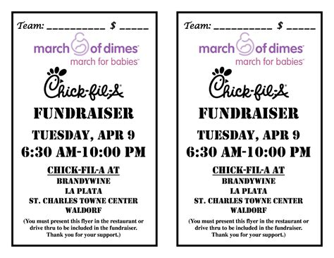 Donation Letter For March Of Dimes March Of Dimes Md Nca Fil A Fundraiser