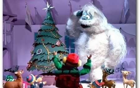 christmas wallpaper rudolph bumble n friends 3d and cg abstract background