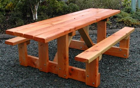 picnic table designs plans  ideas