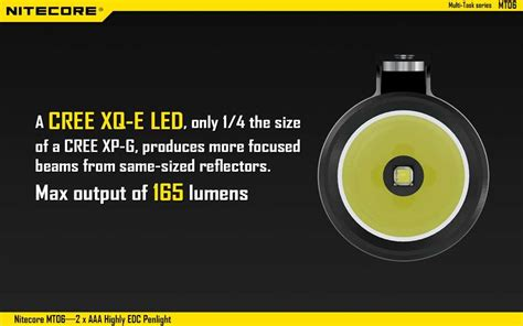 A6188 A List Al 165 Led Light nitecore multi task mt06 led pen flashlight use 2xaaa 165 lumen