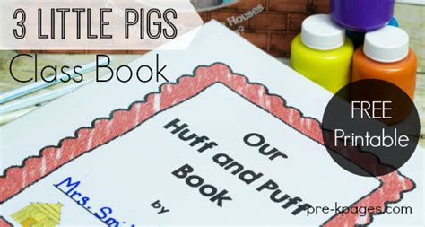 brm a mechanics tale books the three pigs printable class book activity