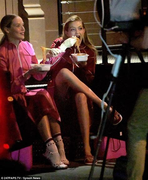 Another Photo Shoot In Ny by Gigi Hadid Chows On Cuisine For Food Filled Shoot
