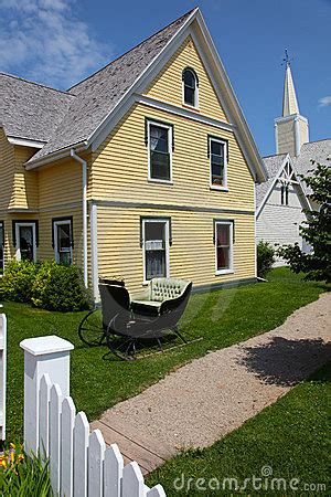 yellow siding house house with yellow siding stock images image 18055074