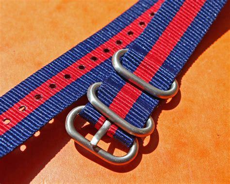 Nato Zulu 20mm bracelet nato zulu 4 anneaux vintage type militaire 20mm