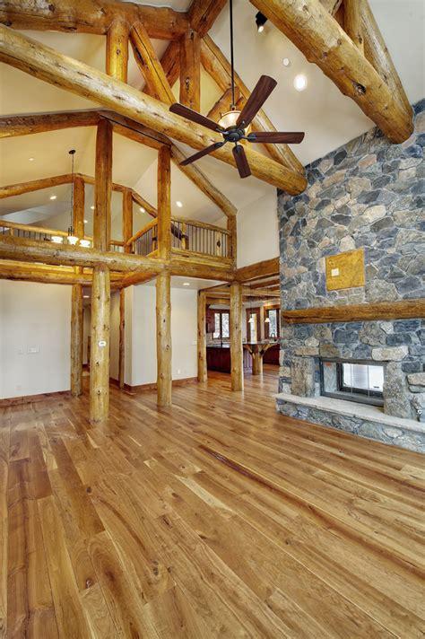 hybrid log house in colorado log work by sitka log homes conifer log hybrid home landmark luxury homes