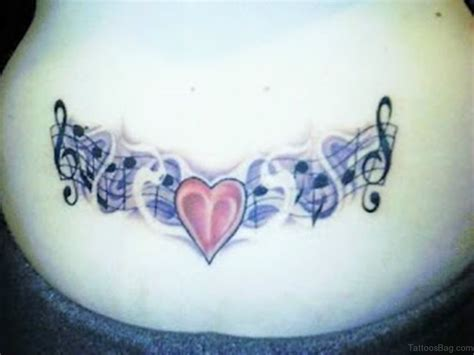 music heart tattoo designs 70 cool on back