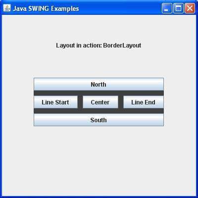 layout exles in swing swing borderlayout class