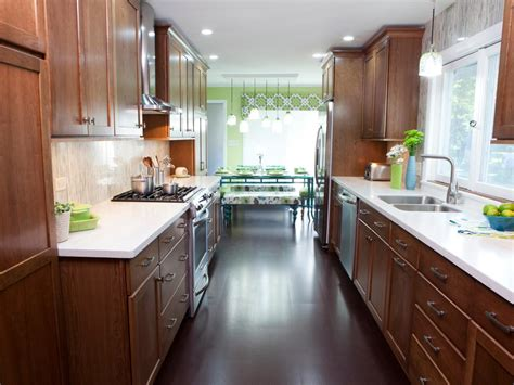 ideas for galley kitchen makeover galley kitchen designs hgtv
