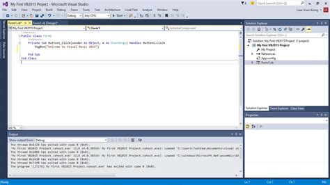 tutorial visual basic 2015 tutorial visual basic visual basic 2015 pelajaran 1
