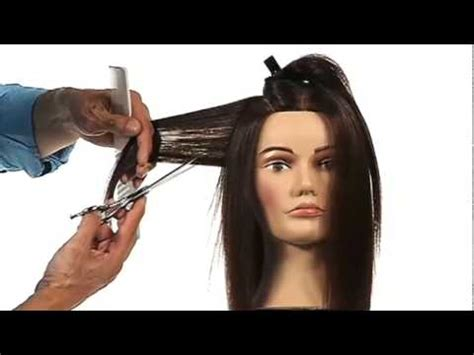 how to professionally cut hair blending shear slicing