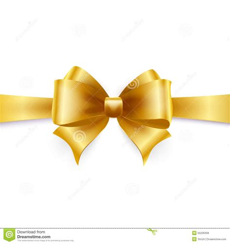 gold bow golden bow vector illustration stock vector image 55206308
