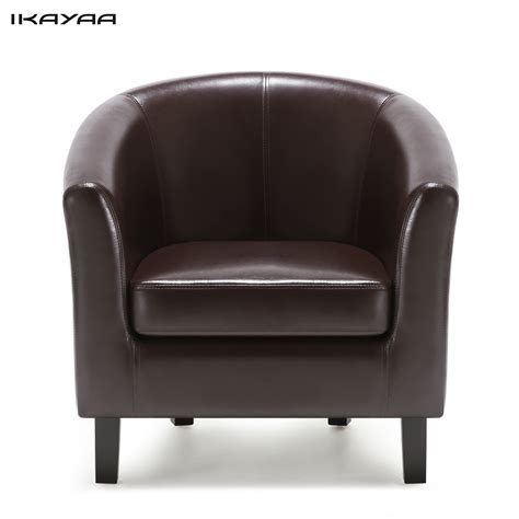 cheap single sofa chairs ikayaa us fr stock chair pu leather barrel tub chair