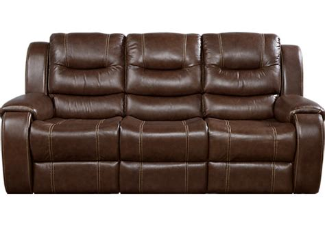 Brown Leather Recliner Sofas by 995 00 Veneto Brown Leather Power Reclining Sofa
