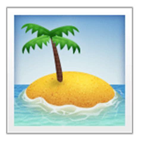island emoji desert island emoji for email sms id 557
