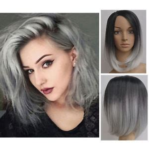 medium length grayish hairstyles for full figure women girl shoulder length straight full wig hair black