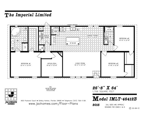 Mobil Home Floor Plans imlt 46412b mobile home floor plan ocala custom homes