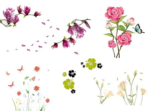 wandtattoo kinderzimmer blumen wandtattoo blumen ornament lila schwarz