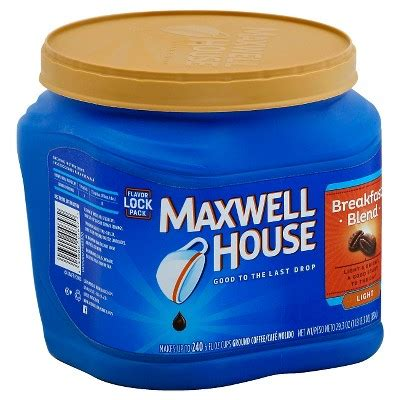 maxwells music house maxwell house 174 breakfast blend light roast ground coffee 25 6oz target
