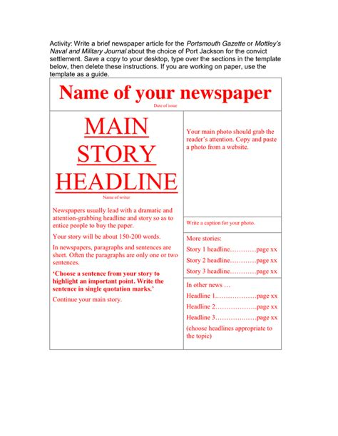 newspaper template for docs newspaper template in word and pdf formats