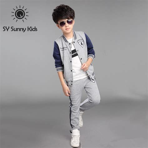 new year clothes for boy 4 10 years 2015 new autumn tracksuit set boys