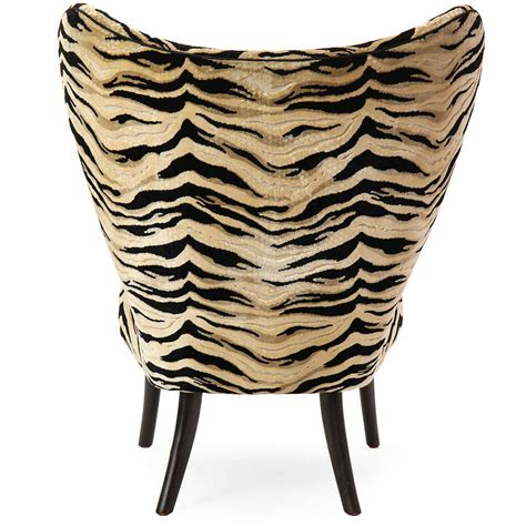 zebra chair and ottoman danish zebra print lounge chair and ottoman for sale at
